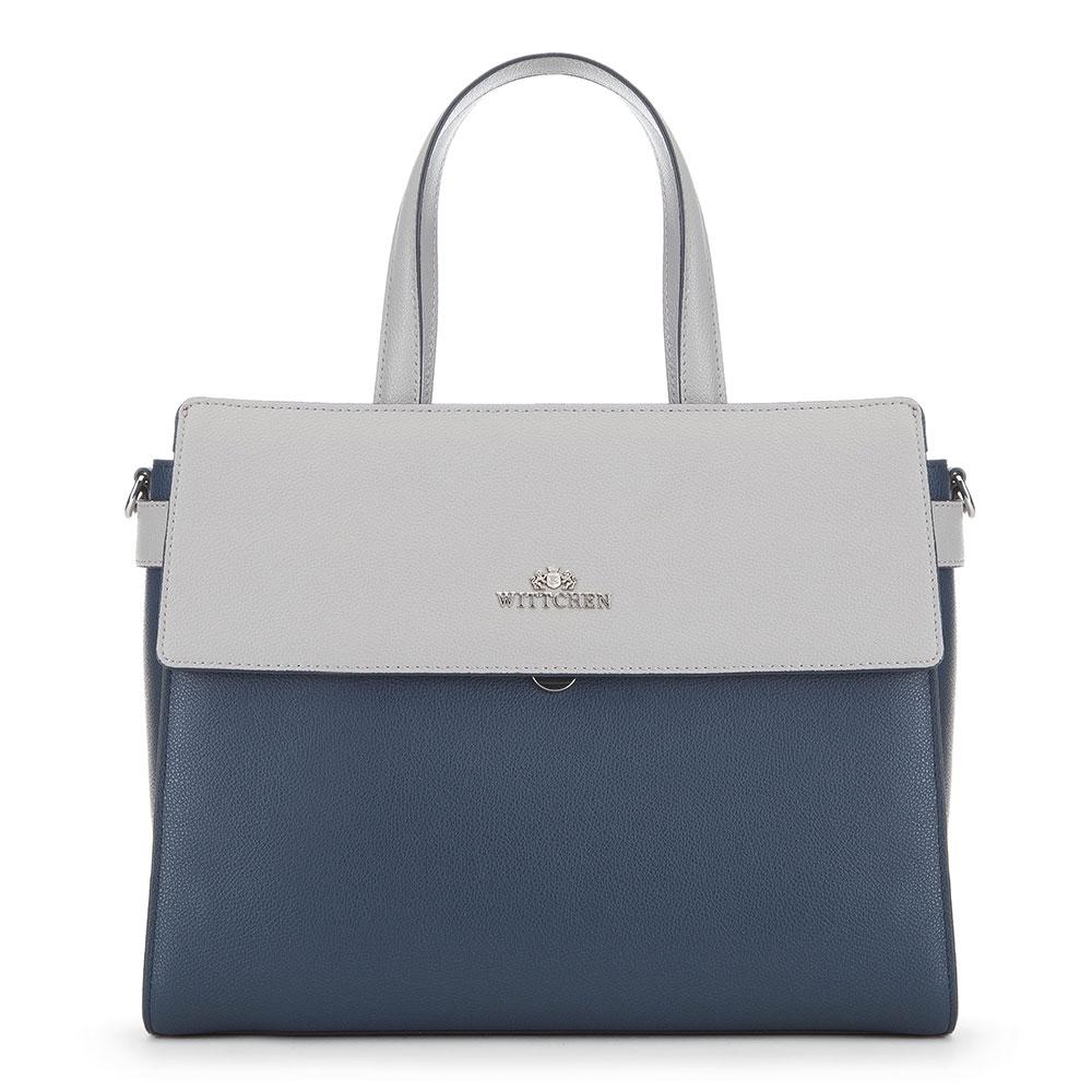 Dámská kabelka, tmavě modro-šedá, 91-4E-614-7, Obrázek 1