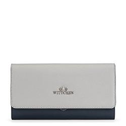 Kožená dámská kabelka, tmavě modro-šedá, 91-4E-616-7, Obrázek 1