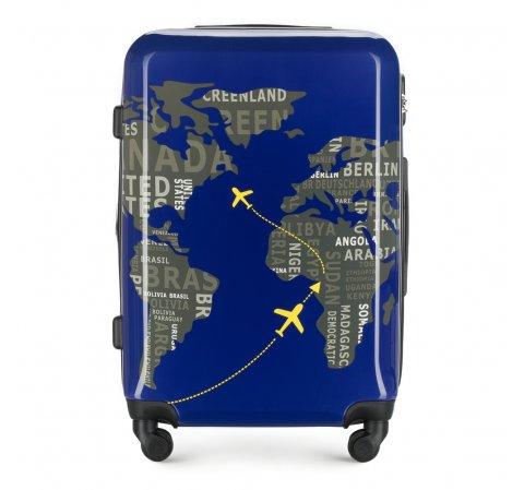Střední kufr, tmavě modro-šedá, 56-3A-462-9C, Obrázek 1