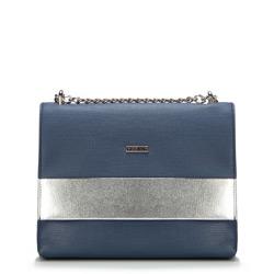 Dámská kabelka, tmavě modro-stříbrná, 87-4Y-566-7S, Obrázek 1
