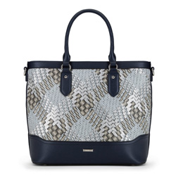 Dámská kabelka, tmavě modro-stříbrná, 90-4Y-752-7, Obrázek 1