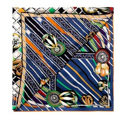 Dámský šátek, tmavě modro-zelená, 85-7D-S20-X5, Obrázek 1
