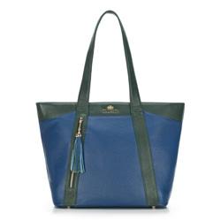 Dámská kabelka, tmavě modro-zelená, 88-4E-350-7, Obrázek 1