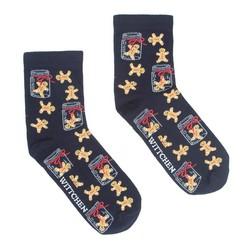 Dámské ponožky, tmavě modro-žlutá, 91-SK-020-X1-35/37, Obrázek 1