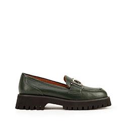 Dámské boty, tmavozelený, 93-D-951-Z-40, Obrázek 1