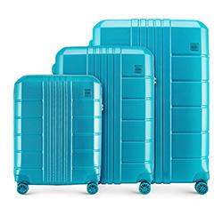 Háromrészes bőröndszett polikarbonát, türkiz, 56-3P-82S-95, Fénykép 1