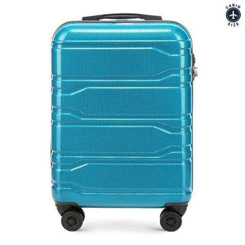 Kis bőrönd, türkiz, 56-3P-981-30, Fénykép 1