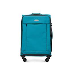 Közepes bőrönd basic, türkiz, 56-3S-462-95, Fénykép 1