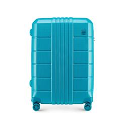 Közepes bőrönd polikarbonát, türkiz, 56-3P-822-95, Fénykép 1
