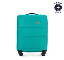 Kis bőrönd dombornyomott, türkiz, 56-3A-631-85, Fénykép 1