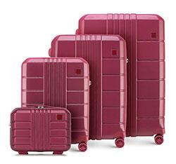 Комплект чемоданов из поликарбоната, умеренно красный, 56-3P-82K-35, Фотография 1