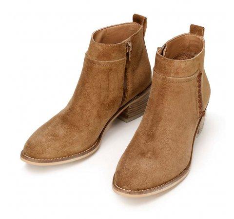 Kotníkové semišové kovbojské boty