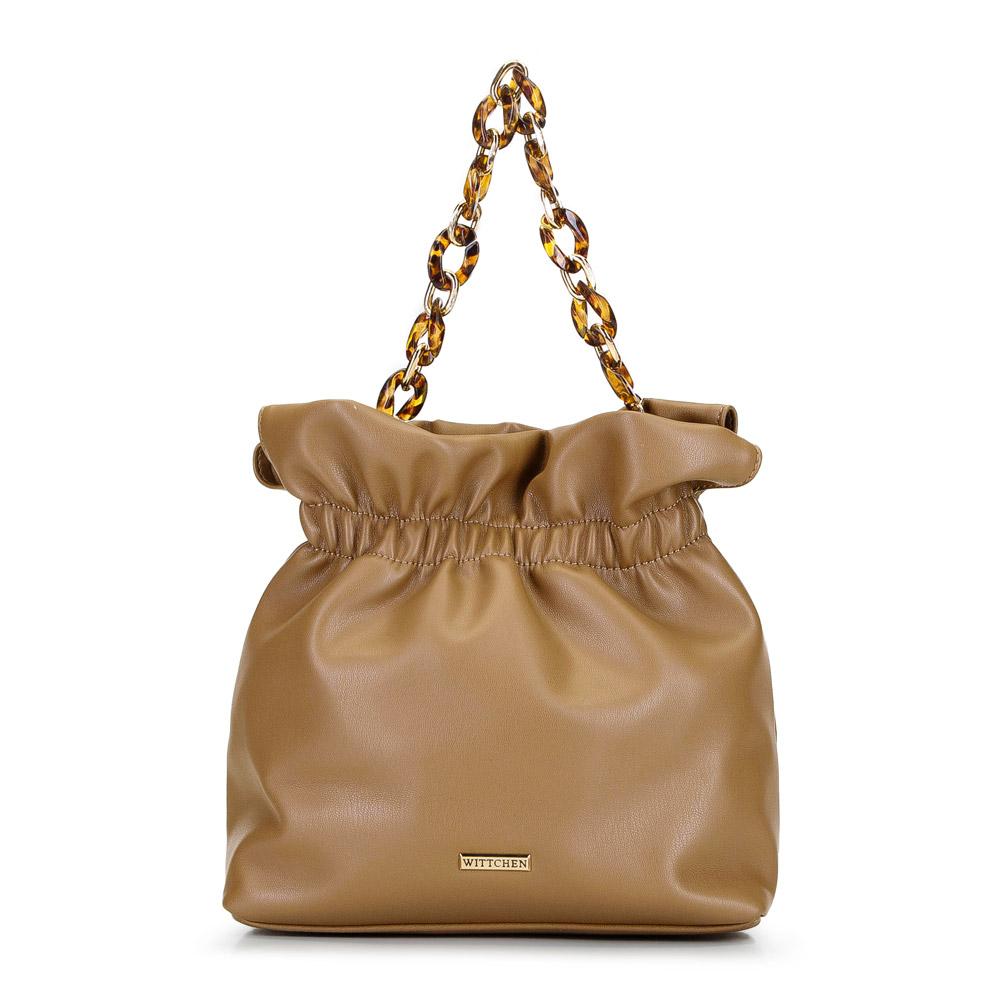Маленькая сумка на черепаховой цепочке, верблюд, 92-4Y-609-5, Фотография 1