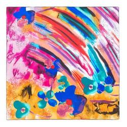 Dámský šátek, vícebarevný, 87-7D-S21-X6, Obrázek 1