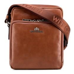 Férfi táska szemes bőrből, világos barna, 88-4U-412-5, Fénykép 1