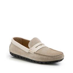 Férfi cipő, világos bézs, 86-M-051-9-41, Fénykép 1