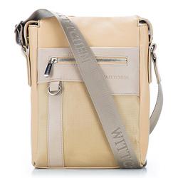 futár táska, világos bézs, 86-4P-100-9, Fénykép 1