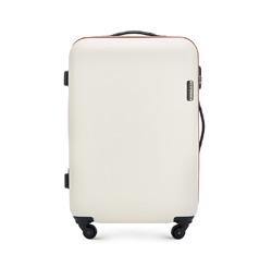 Közepes bőrönd, világos bézs, 56-3-612-85, Fénykép 1