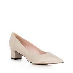 Női bíróság cipő, világos bézs, 90-D-954-0-38, Fénykép 1