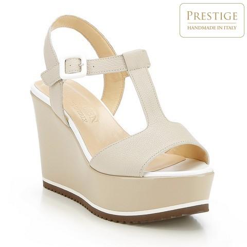 Női cipő, világos bézs, 84-D-100-8-39_5, Fénykép 1