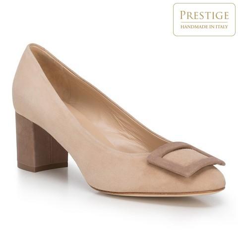 Női cipő, világos bézs, 88-D-104-9-37, Fénykép 1