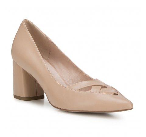 Női cipő, világos bézs, 88-D-957-9-39, Fénykép 1