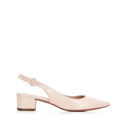 Női bőr félcipő nyitott sarokkal, világos rózsaszín, 92-D-752-P-36, Fénykép 1