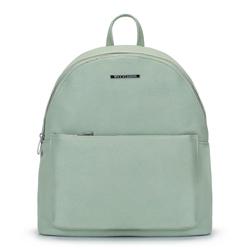 Női  hátizsák színes béléssel, világos zöld, 92-4Y-215-Z, Fénykép 1
