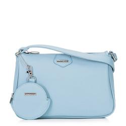 Kis női táska kulcstartóval, Világoskék, 92-4Y-579-7, Fénykép 1