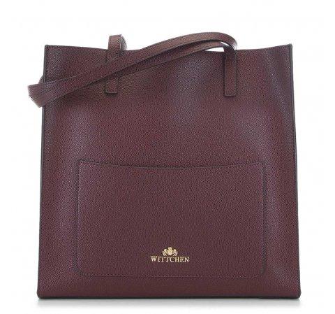 Tote kožená kabelka v barvě bordó