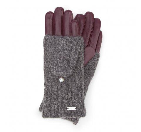 Dámské rukavice, vínová, 39-6-570-BD-V, Obrázek 1