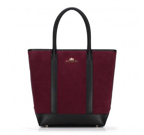 Dámská kabelka, vínovo-černá, 89-4E-405-Z, Obrázek 1