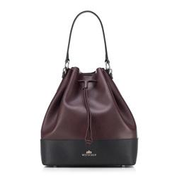 Dámská kabelka, vínovo-černá, 89-4E-407-2, Obrázek 1
