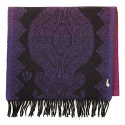 Gemusterter Damenschal, violett - orange, 91-7D-X05-X1, Bild 1