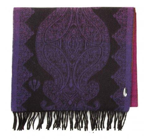 Gemusterter Damenschal, violett - orange, 91-7D-X05-X3, Bild 1