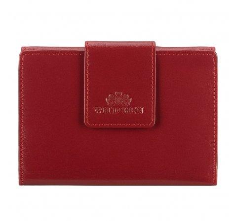 Женский кожаный элегантный кошелек на кнопке, вишневый, 14-1-048-L91, Фотография 1