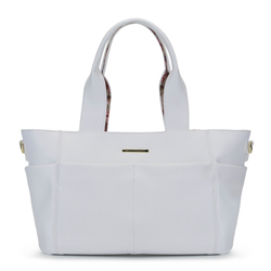 2-in-1-Tasche mit Blumenfutter, weiß, 92-4Y-212-0, Bild 1
