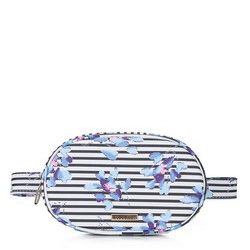 GÜRTELTASCHE FÜR DAMEN IN OVALER FORM, weiß-blau, 92-4Y-308-X7, Bild 1