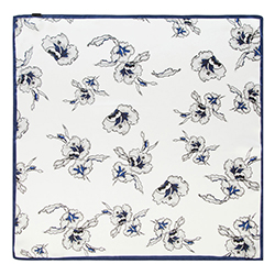 Halstuch für Frauen, weiß-blau, 90-7D-S14-X11, Bild 1