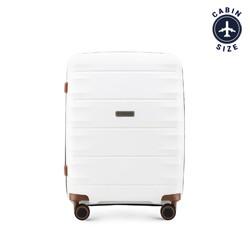 Kleiner Koffer, weiß-braun, 56-3T-761-88, Bild 1