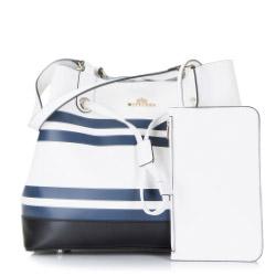 Damentasche, weiß-dunkelblau, 86-4E-418-X01, Bild 1