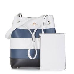 Damentasche, weiß-dunkelblau, 86-4E-419-X01, Bild 1