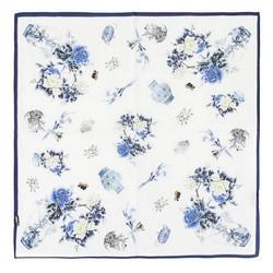 Frauenhalstuch, weiß-dunkelblau, 89-7D-S14-X10, Bild 1