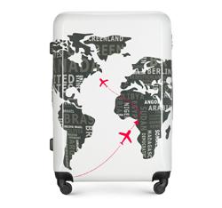 Großer Koffer, weiß-grau, 56-3A-463-8C, Bild 1