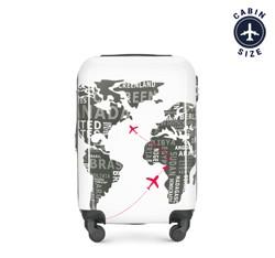Kleiner Koffer, weiß-grau, 56-3A-461-8C, Bild 1