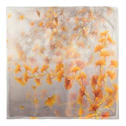 Damenschal, weiß-orange, 88-7D-S40-X3, Bild 1