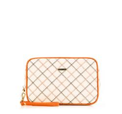 Kosmetiktasche, weiß-orange, 85-3-100-0, Bild 1