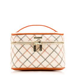 Kulturbeutel, weiß-orange, 88-3-302-0, Bild 1