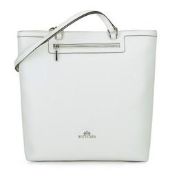 SCHLICHTE SHOPPER-TASCHE AUS LEDER, weiß, 92-4E-600-0, Bild 1