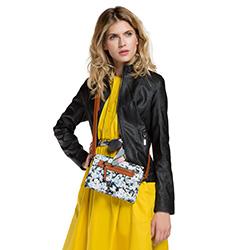 Damentasche, weiß-schwarz, 86-4Y-302-1, Bild 1